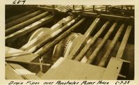 Lower Baker River dam construction 1925-06-07 Drain Pipes over Penstocks Power House