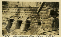 Lower Baker River dam construction 1925-04-25 Downstream Face of Dam