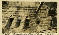 Lower Baker River dam construction 1925-04-25 Downstream Face of Dam