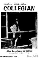 Western Washington Collegian - 1961 February 17