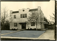 Knapp & Knapp Funeral Home, Lynden (Wash.) - Exterior of two-story, stuccoed building