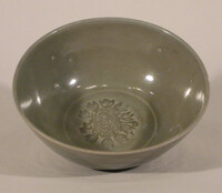 Bowl with impressed flower in center