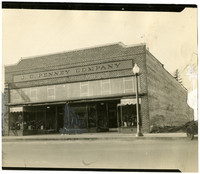 Front exterior of brick J.C. Penney Company store in Lynden