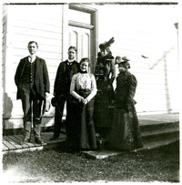 Group of five unidentified people