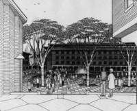 1965 Bond Hall: Artist Rendering