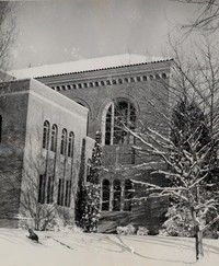 1950 Library: Southeast Corner in the Snow