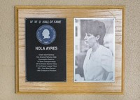 Hall of Fame Plaque: Nola Ayers, Alumus, Class of 1991