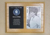Hall of Fame Plaque: Nola Ayers, Alumus, Class of 1991