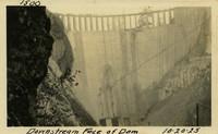 Lower Baker River dam construction 1925-10-20 Downstream Face of Dam