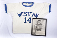 Basketball (Men's) Jersey and Photograph: #14, Mike Franza, 1973