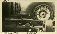 Lower Baker River dam construction 1925-08-28 Turbine #1S