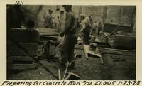 Lower Baker River dam construction 1925-07-23 Preparing for Concrete Run #170 El.3415