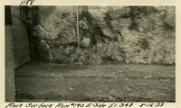 Lower Baker River dam construction 1925-08-16 Rock Surface Run #190 E. Side El.348