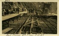 Lower Baker River dam construction 1925-07-10 Bolt Frames 4th Floor