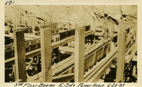 Lower Baker River dam construction 1925-06-20 3rd Floor Beams E. Side Power House