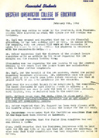 AS Board Minutes 1952-02