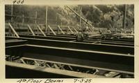 Lower Baker River dam construction 1925-07-03 4th Floor Beams