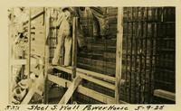 Lower Baker River dam construction 1925-05-09 Steel S. Wall Power House