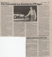 Fish Town protest was downtime for S-W logger