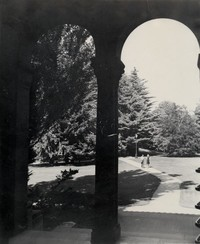 1947 Students on Walkway