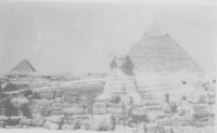 Egyptian pyramids and sphinx