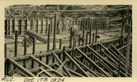 Lower Baker River dam construction 1924-10-17 Concrete work above base