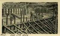 Lower Baker River dam construction 1924-10-17 Concrete work above base