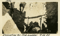Lower Baker River dam construction 1925-09-16 Excavating for Fish Ladder