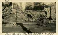Lower Baker River dam construction 1925-07-15 Rock Surface Run #162 El.3055