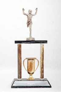 Cross-Country Running (Men's) Trophy: Evergreen Conference Champions (front), 1957