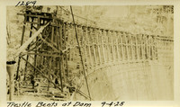 Lower Baker River dam construction 1925-09-04 Trestle Bents at Dam