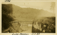 Lower Baker River dam construction 1925-11-07 Lake Shannon (with railroad trestle)