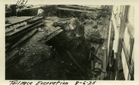 Lower Baker River dam construction 1925-08-06 Tail Race Excavation