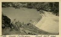 Lower Baker River dam construction 1924-09-23 Upper Cofferdam during flood