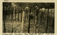 Lower Baker River dam construction 1925-07-21 Concrete Surface Run #168 El.3815