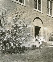 1960  Campus School Building Rear Entrance