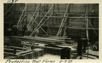 Lower Baker River dam construction 1925-08-09 Protection Wall Forms