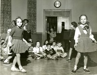 1950 First Grade Girls Dancing at Assembly