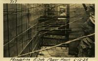 Lower Baker River dam construction 1925-06-12 Foundation E. Side Power House