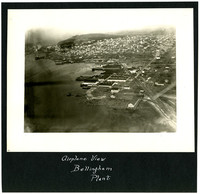 Aerial view of Pacific American Fisheries cannery and shipyard, south Bellingham, Washington