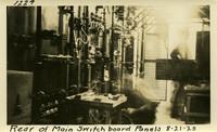 Lower Baker River dam construction 1925-08-21 Rear of Main Switchboard Panels