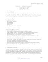 WWU Board of Trustees Meeting Records 2014 April