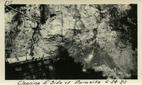 Lower Baker River dam construction 1925-06-24 Cleaning E. Side of Dam Site