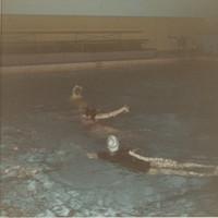 Blue Barnacles Swim CLub Members Performing in a Pool