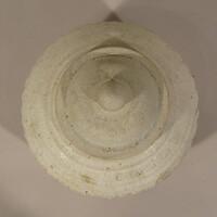 Sawankhalok ware lidded box, globular body with vertical grooves