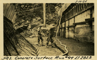Lower Baker River dam construction 1925-05-10 Concrete Surface Run #99 El.282.8