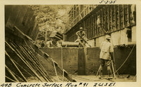 Lower Baker River dam construction 1925-05-02 Concrete Surface Run #91 261.3 El.