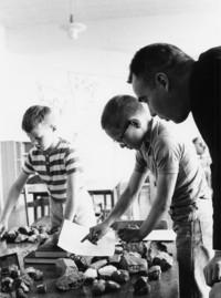 1965 Classroom Scene, Working with Rocks
