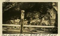 Lower Baker River dam construction 1925-08-12 Rock Surface Run #186 W. Side El.349.5