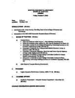 WWU Board minutes 2003 October